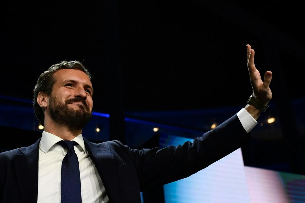 "PP leader Pablo Casado has called for a ""real government that will put order in Catalonia"