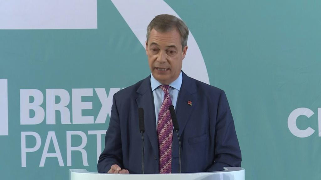 Eurosceptic leader Nigel Farage announces that his Brexit Party will not challenge seats held by the governing Conservatives at next month's election, in a potential boost for Prime Minister Boris Johnson.