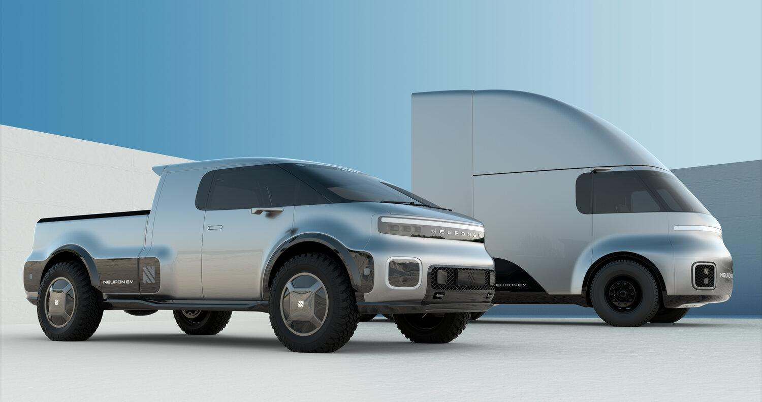 Neuron EV concept electric pickup and truck