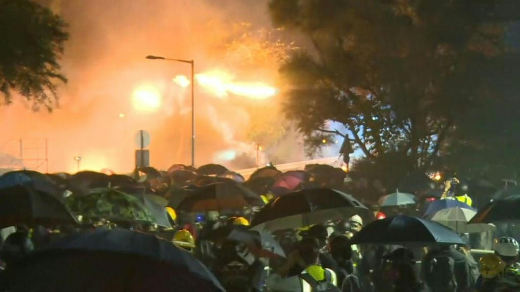 IMAGESDemonstrations continue in Hong Kong outside the Chinese University of Hong Kong in some of the most violent clashes since pro-democracy unrest erupted more than five months ago.