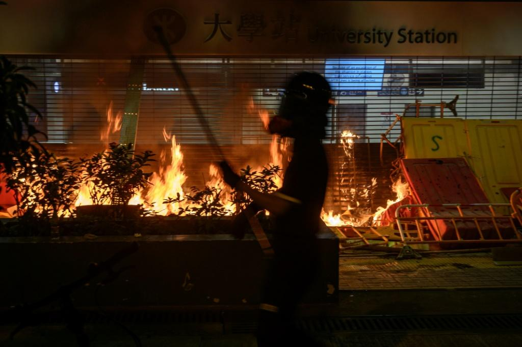 Stations have repeatedly been targeted during five months of pro-democracy protests