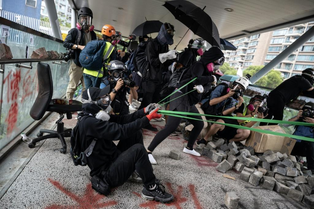 The current flare-up is the latest in 24 straight weeks of increasingly violent rallies in Hong Kong