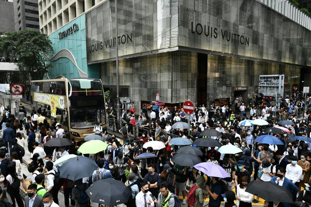 The scenes in Hong Kong's Central district were a vivid illustration of how moderate people are continuing to back the pro-democracy movement