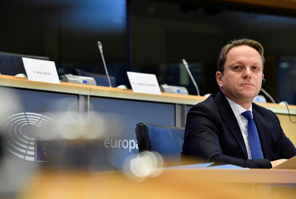 European Union commissioner-designate for Neighbourhood and Enlargement, Hungary's Oliver Varhelyi attends a hearing before the European Parliament in Brussels on Novembre 14, 2019