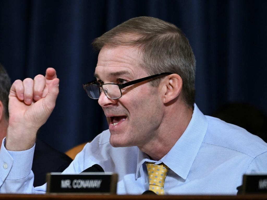 Representative Jim Jordan, Republican of Ohio, engaged in tough questioning of the first two witnesses in the impeachment inquiry