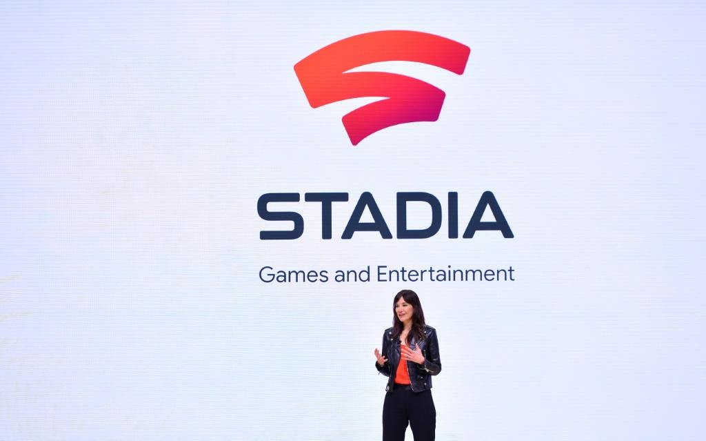 Head of Stadia Games and Entertainment Jade Raymond speaks during the annual Game Developers Conference in San Francisco, California on March 19, 2019