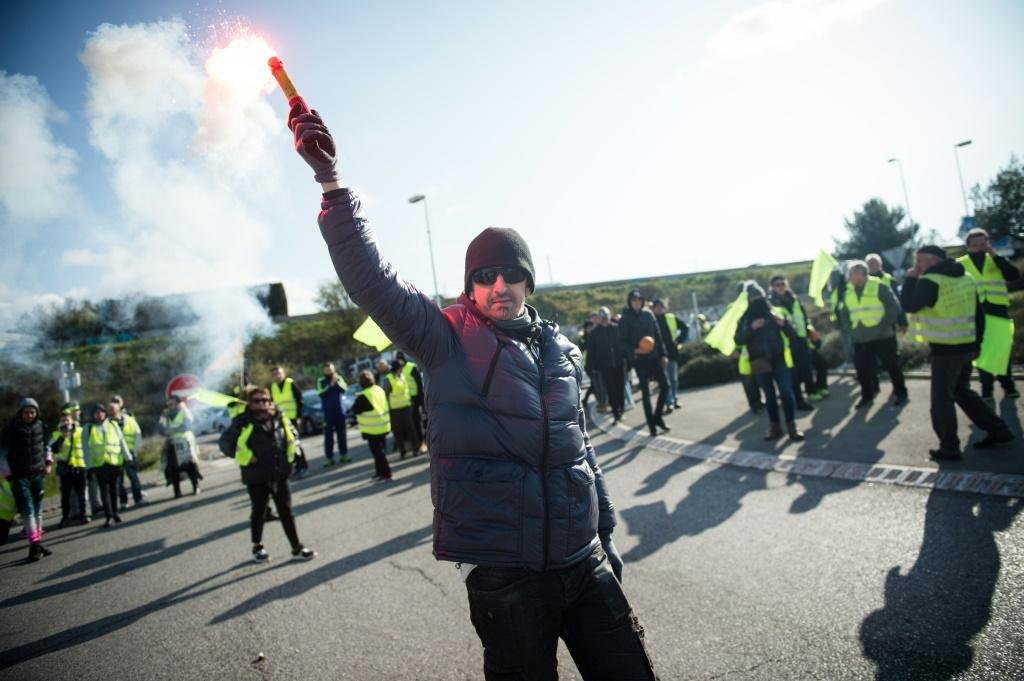 "It has been ""yellow west ""protests over France this weekend"