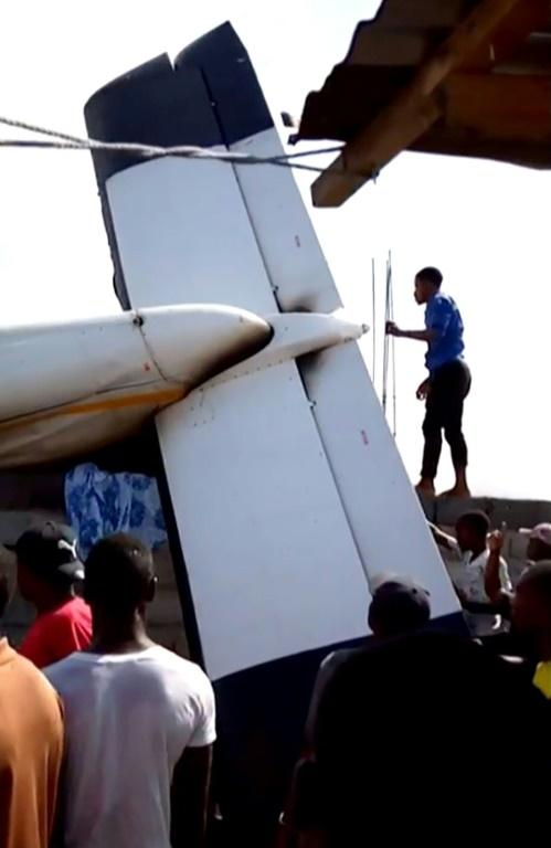 The plane crashed down in a densely-populated area of DR city Goma