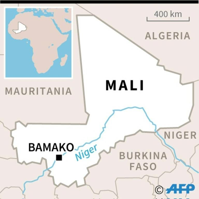 Map of Mali where French soldiers were killed after two helicopters collided.