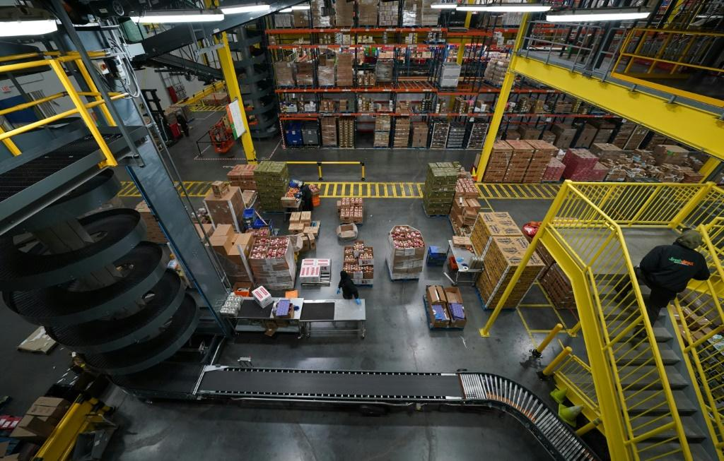 FreshDirect's depot, in New York City's Bronx borough, is mostly automated
