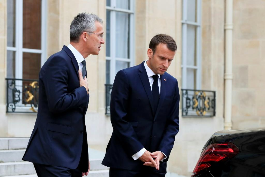 NATO chief Jens Stoltenberg's meeting with French President Emmanuel Macron comes ahead of next week's NATO summit