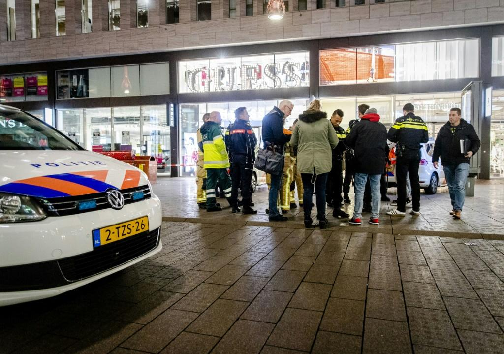 The stabbing happened at the Hudson's Bay department store in Grote Marktstraat, the biggest shopping area in The Hague