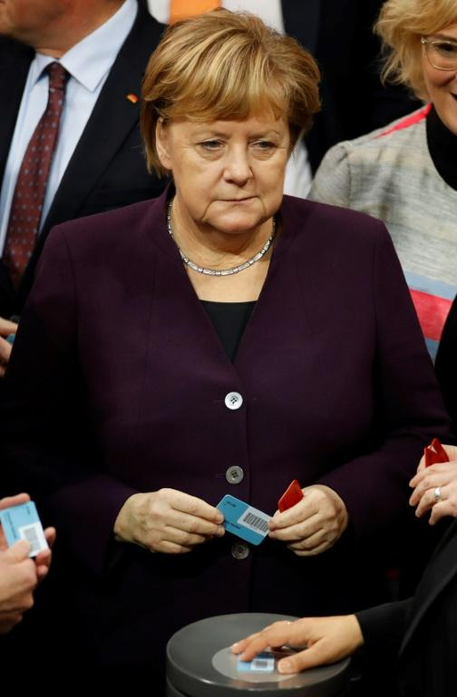 Merkel, in power for 14 years, has said she would step down when her term ends in 2021