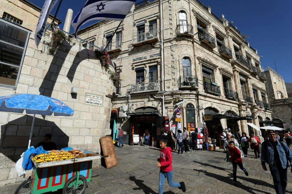The Imperial Hotel, next to the Jaffa Gate in Jerusalem, is at the centre of a years-long dispute between its Palestinian tenants and an Israeli settler organisation which allegedly secretly bought it in 2004 from the Greek Orthodox Church