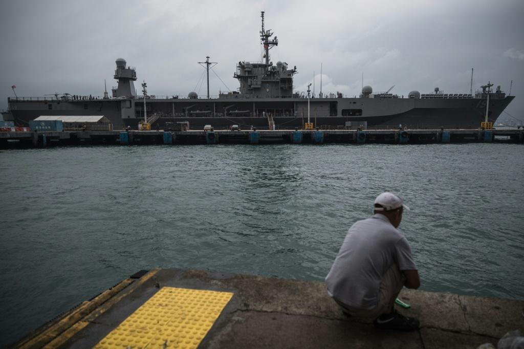 The USS Blue Ridge, an amphibious command ship from the US 7th Fleet, made a port call in Hong Kong in April 2019