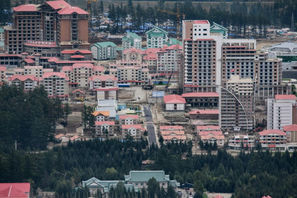 This photo of North Korea's Samjiyon, taken in September, shows part of the massive construction project opened on Tuesday