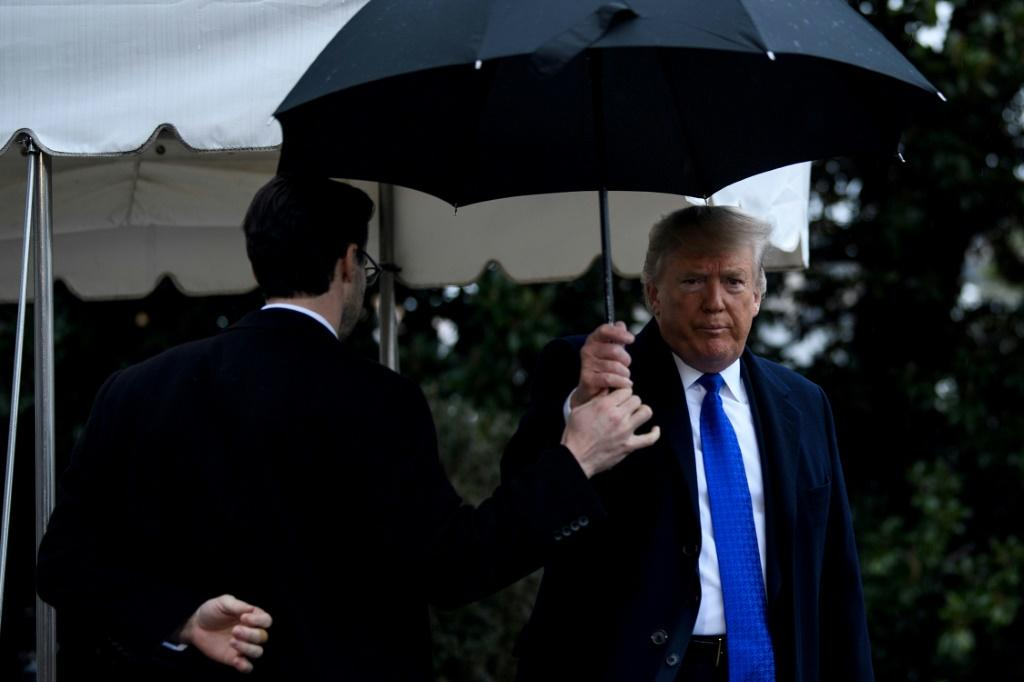 US President Donald Trump left Washington on Monday to fly to London to meet with NATO leaders for the 70th anniversary of the alliance