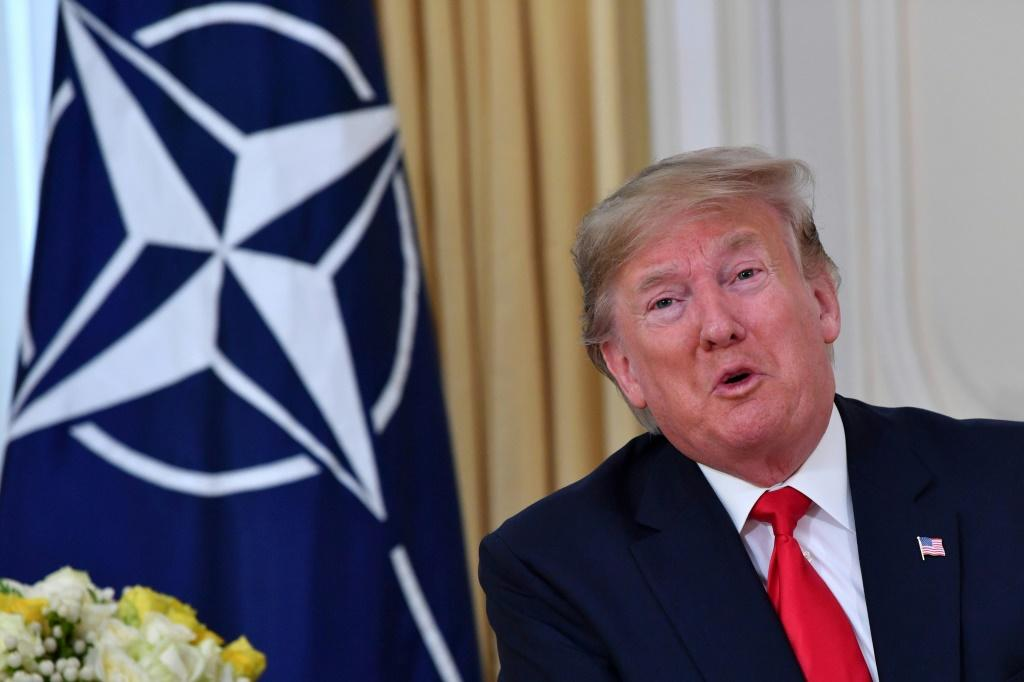 US President Donald Trump could not resist lashing out at French President Emmanuel Macron over his 'brain dead' NATO comments