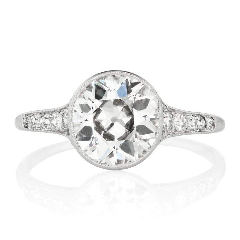 Aidan Large Round Diamond Engagement Ring