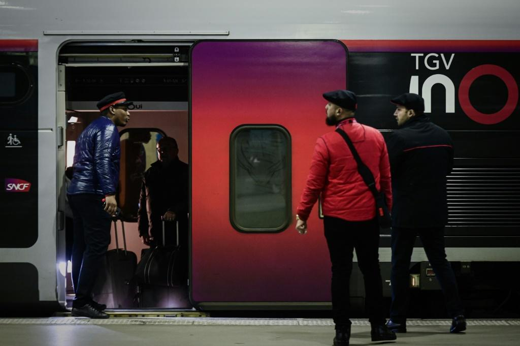 French rail operator SNCF said 90 percent of high-speed TGV trains were again cancelled on Friday