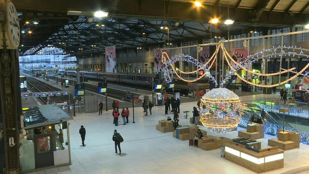 The Gare de Lyon in Paris was nearly empty on Friday as the strikes continued