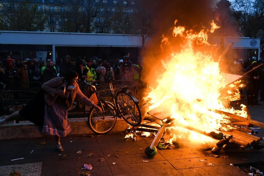 While most of Thursday's rallies were peaceful, there were sporadic clashes in Paris and some other cities