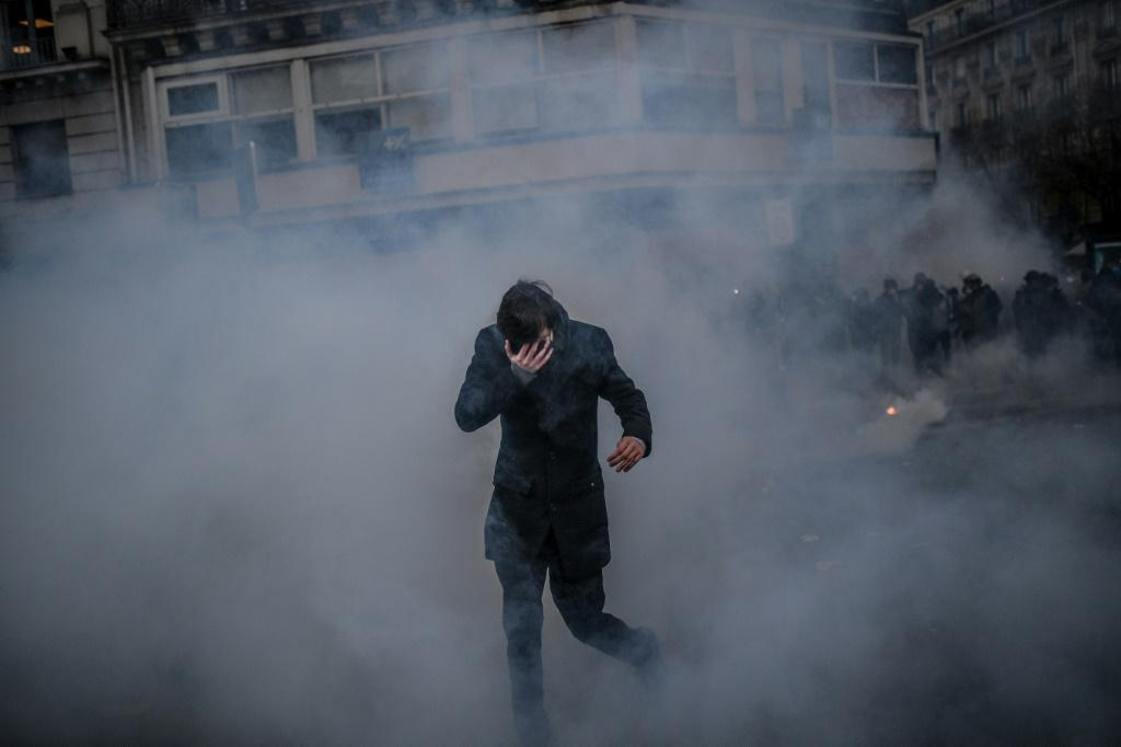While most of the rallies Thursday were peaceful, police fired tear gas to disperse dozens of protesters