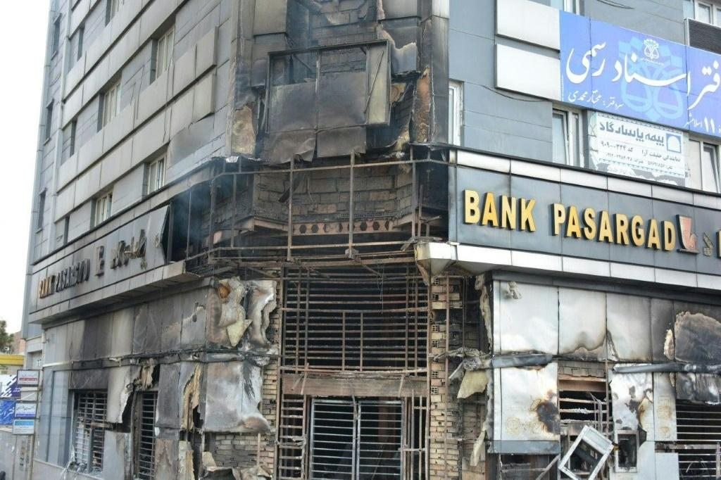 In demonstrations last month after a fuel price hike, protesters set ablaze banks as well as shops and police stations
