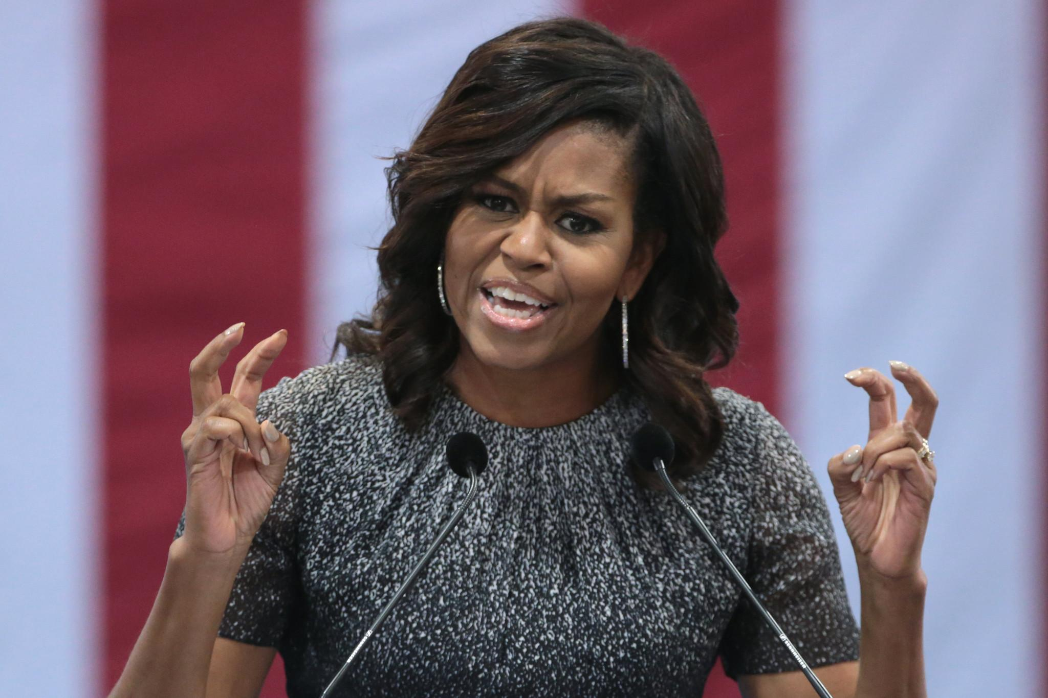 Michelle Obama at campaign rally in Phoenix, AZ