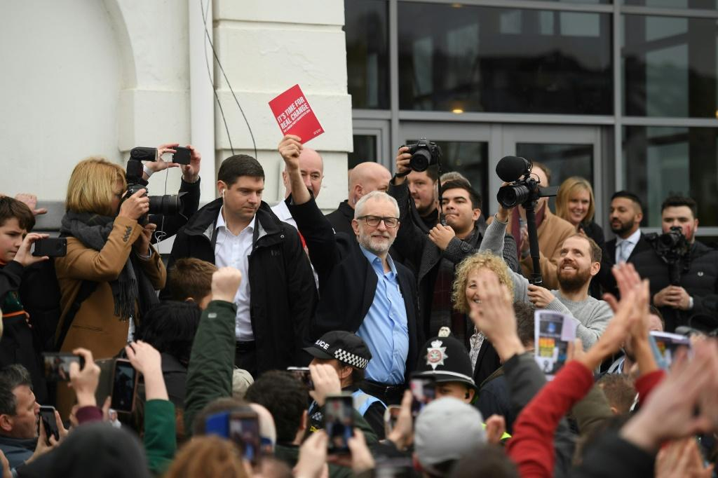 Opposition Labour party leader Jeremy Corbyn is banking on a late surge similar to 2017 to keep out the Conservatives