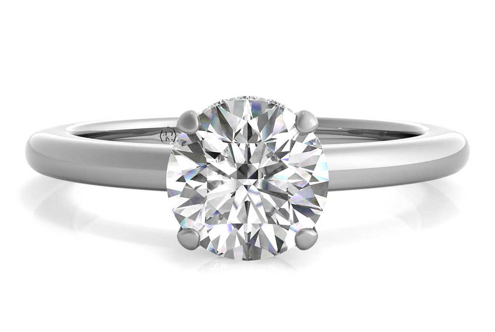Solitaire Diamond Gallery Engagement Ring