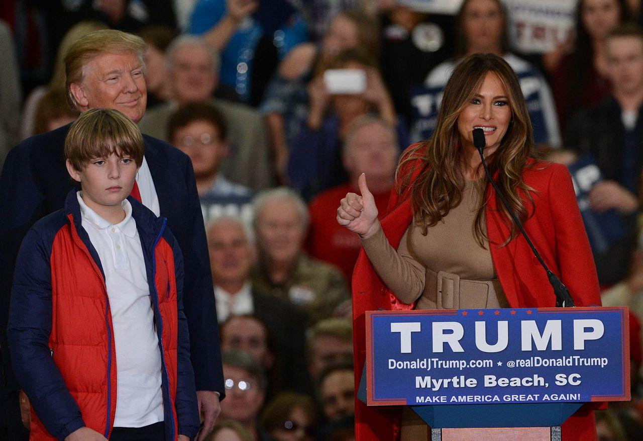 First_Lady_Melania_Trump_speaking_in_2015_(cropped2)