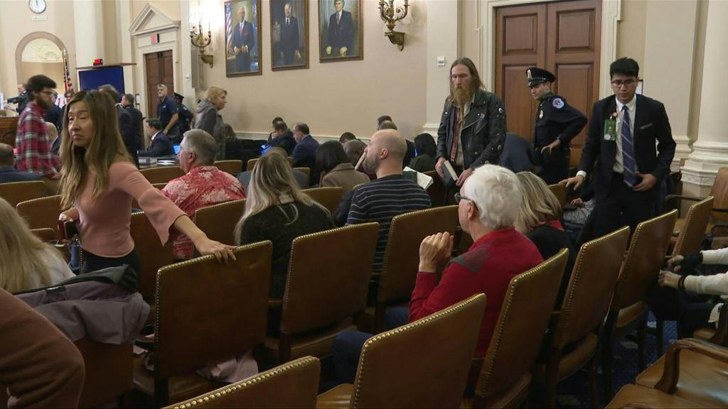 Washington residents and tourists alike flock to Congress as the latest hearings on the impeachment inquiry against Donald Trump get underway.