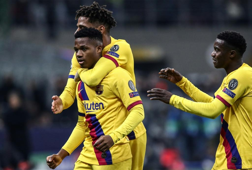 Ansu Fati became the youngest player to score in the Champions League when he netted Barcelona's winner away to Inter