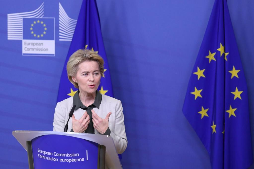 "European Commission president Ursula von der Leyen said the 'Green New Deal' to fight climate change was ""Europe's man on the moon moment"