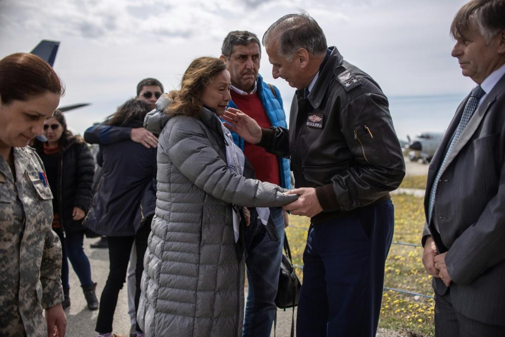 Relatives of people who were aboard the missing Chilean air force plane gathered in Punta Arenas to be close to the rescue effort