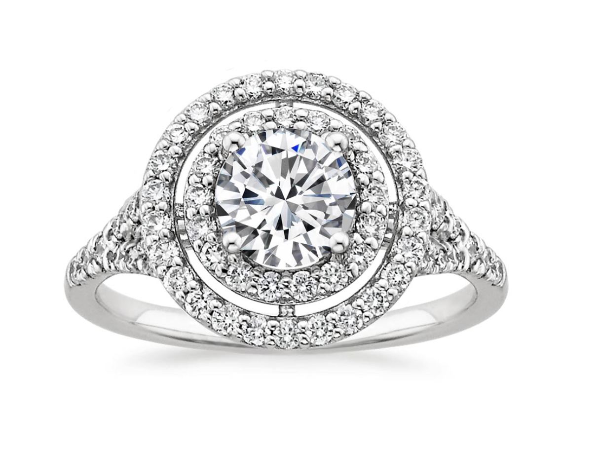 Double Halo Diamond Ring (1/2 ct. tw.)