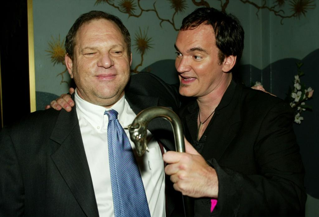"Miramax co-founder Harvey Weinstein and Director Quentin Tarantino at the September 2003 premier of ""Kill Bill Volume 1,"" one of the movies in the Miramax catalagoue covered by a $375 million deal between ViacomCBS and Qatar's Bein Group"