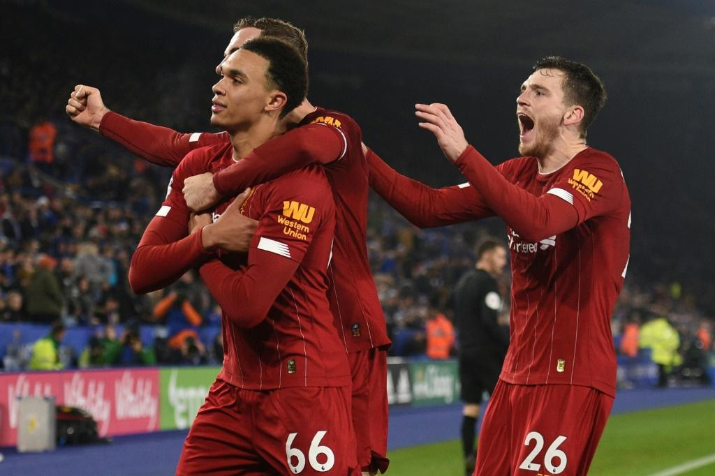 Four-midable: Trent Alexander-Arnold had a hand in all four of Liverpool's four goals at Leicester