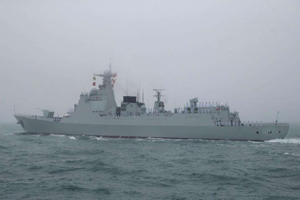 One of China's Type 052D guided missile destroyers is taking part in the naval drills with Russia and Iran