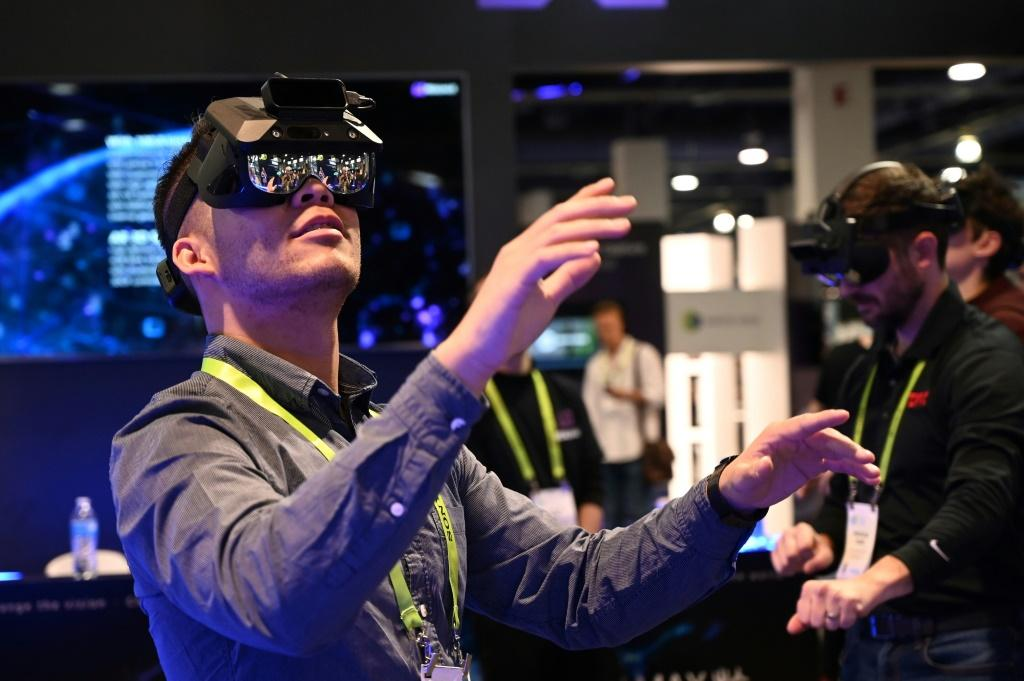 New products using augmented and virtual reality, such as these AR glasses seen at the 2019 Consumer Electronics Show, are expected at the 2020 event, which opens January 7 in Las Vegas