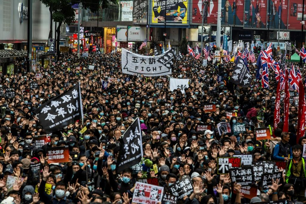 The unrest in Hong Kong was sparked last year by a proposal to allow extraditions to mainland China