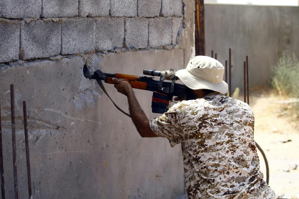 A fighter loyal to the internationally recognised Libyan Government of National Accord