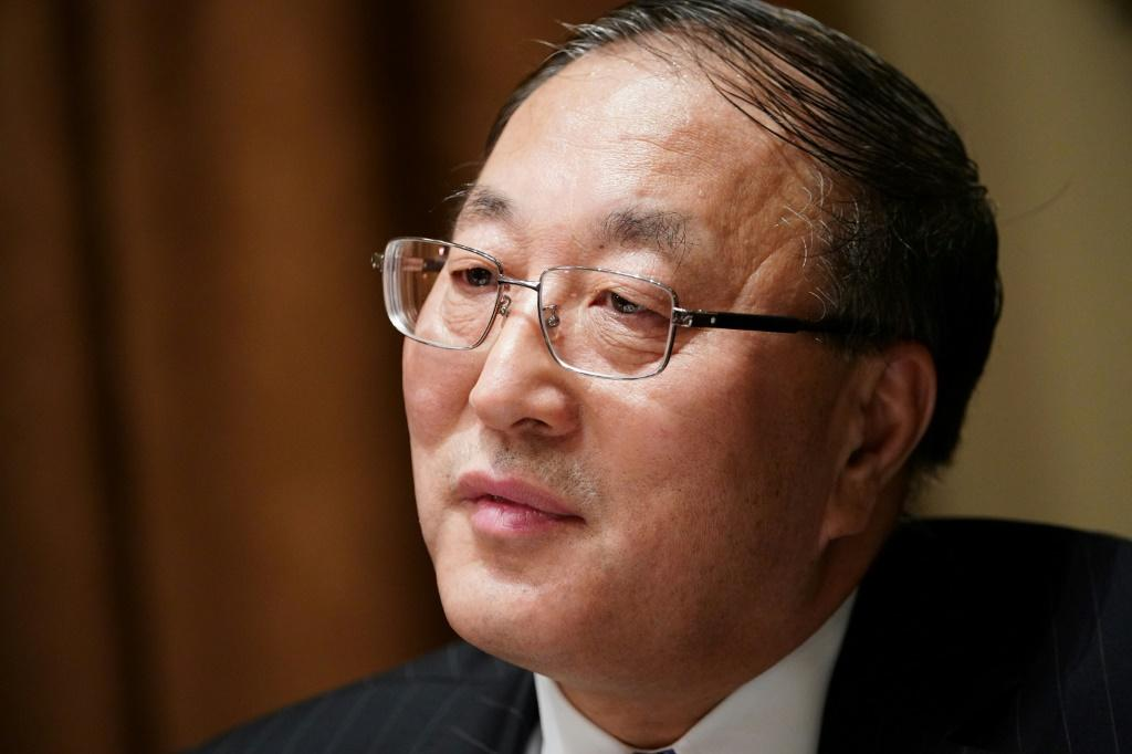 China's UN ambassador Zhang Jun, pictured December 2019, wants the world body to ease sanctions on North Korea