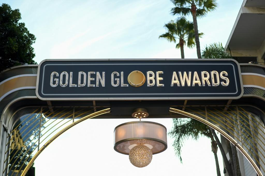 The red carpet is all set up at the Beverly Hilton for the Golden Globes