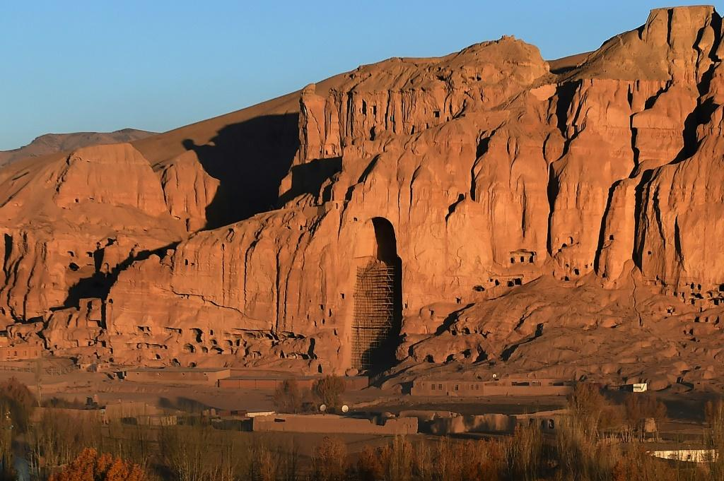 Trump's threat drew comparisons with the Taliban's destruction of the Bamiyan Buddhas in Afghanistan, which once stood at this site