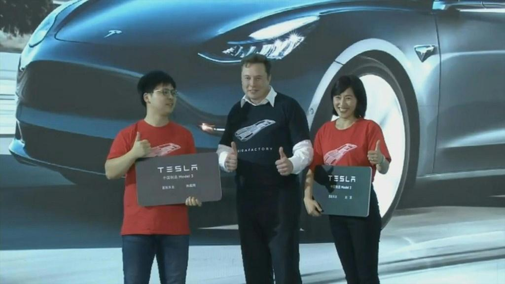 "Tesla CEO Elon Musk presented the first batch of made-in-China cars to ordinary buyers on Tuesday in a milestone for the company's new Shanghai ""giga-factory"