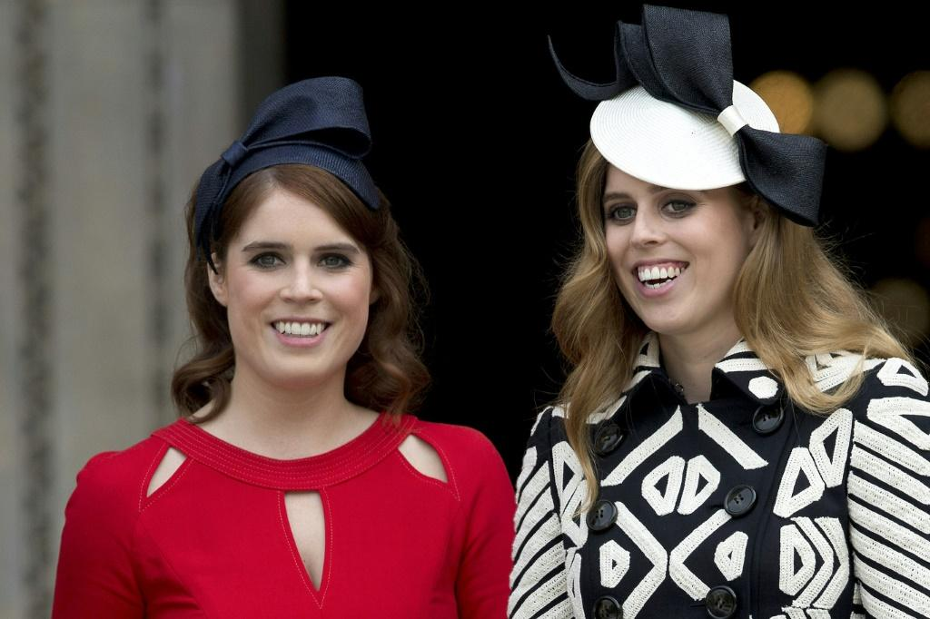 Britain's Princess Eugenie of York (L) and Princess Beatrice of York are pictured in 2016