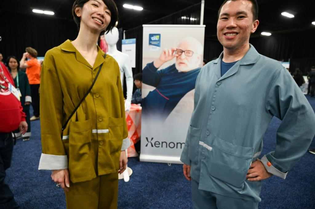 Smart pajamas from Japan-based startup Xenoma can be used to discreetly monitor the health vitals of seniors