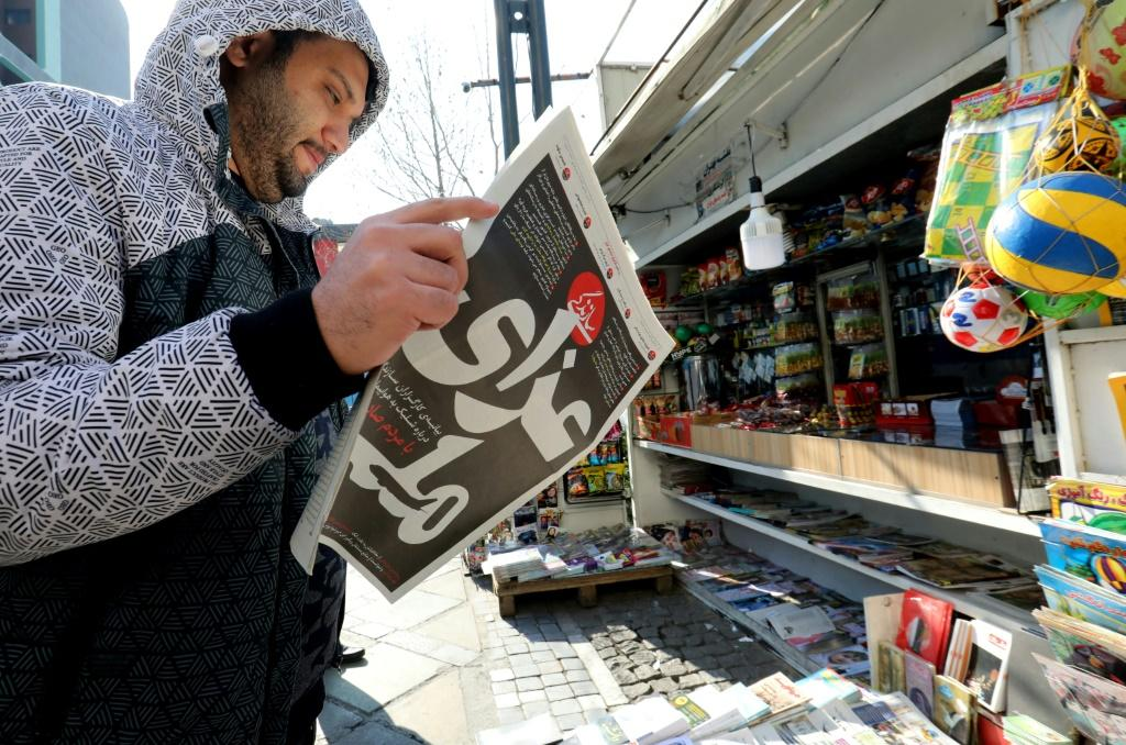 "An Iranian newspaper headline reads ""National Mourning"" about the downed Ukranian jetliner"